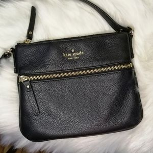 Kate Spade Black Leather Tenley Crossbody Purse